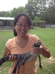 Baby Alligator and me